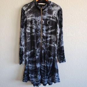 Soft Surroundings | Tie Dye Double Zip Tunic EUC
